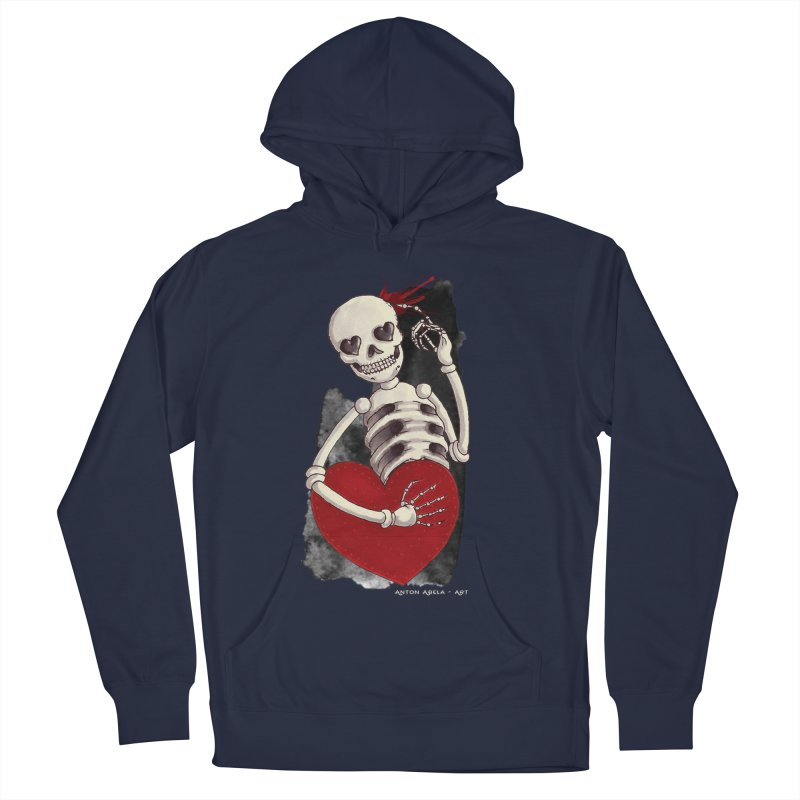 Grimly in Love Men's Pullover Hoody by AntonAbela-Art's Artist Shop