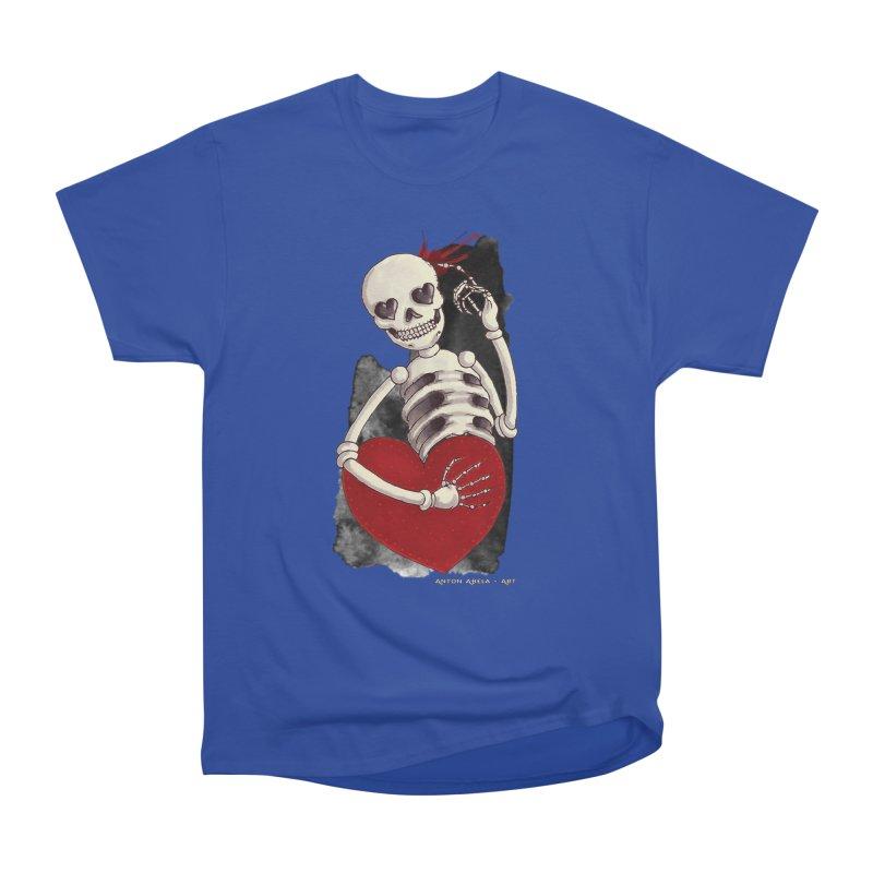 Grimly in Love Women's Classic Unisex T-Shirt by AntonAbela-Art's Artist Shop