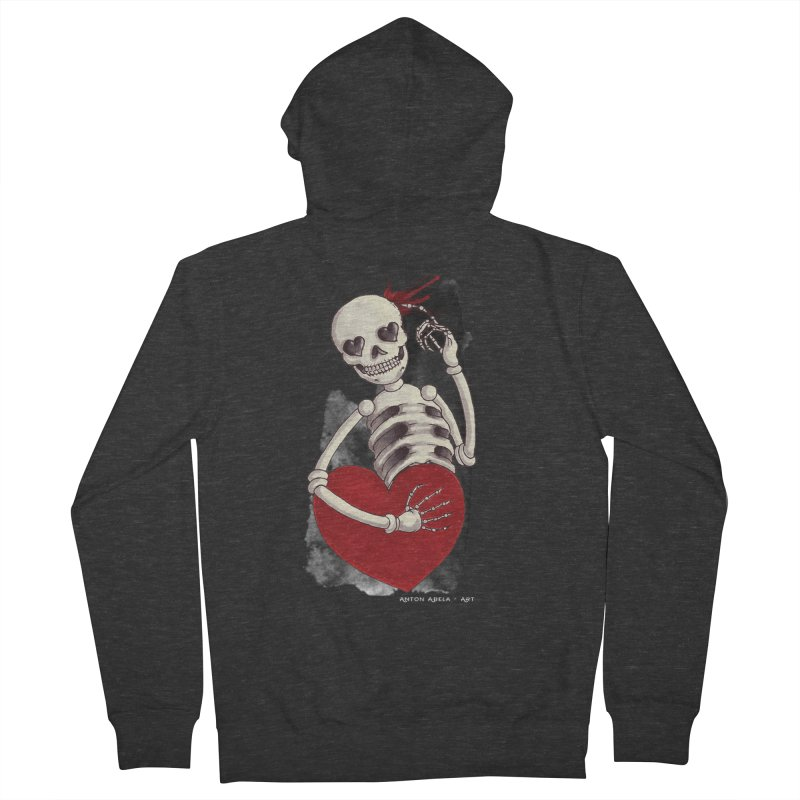 Grimly in Love Men's Zip-Up Hoody by AntonAbela-Art's Artist Shop
