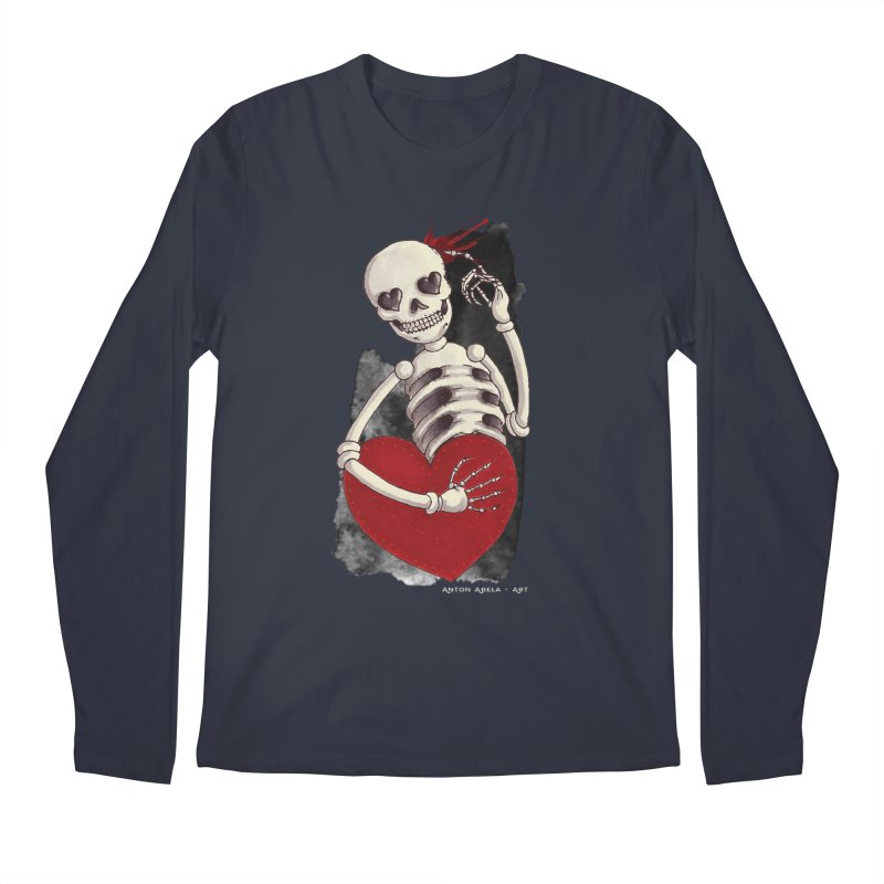 Grimly in Love Men's Longsleeve T-Shirt by AntonAbela-Art's Artist Shop