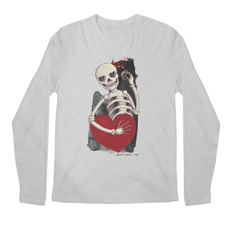 Grimly in Love Men's Longsleeve T-Shirt by AntonAbela-Art's Artist Shop