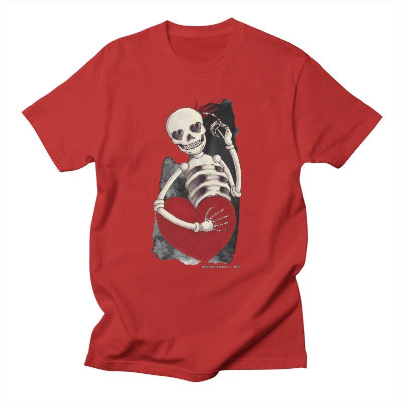 Grimly in Love Women's Unisex T-Shirt by AntonAbela-Art's Artist Shop