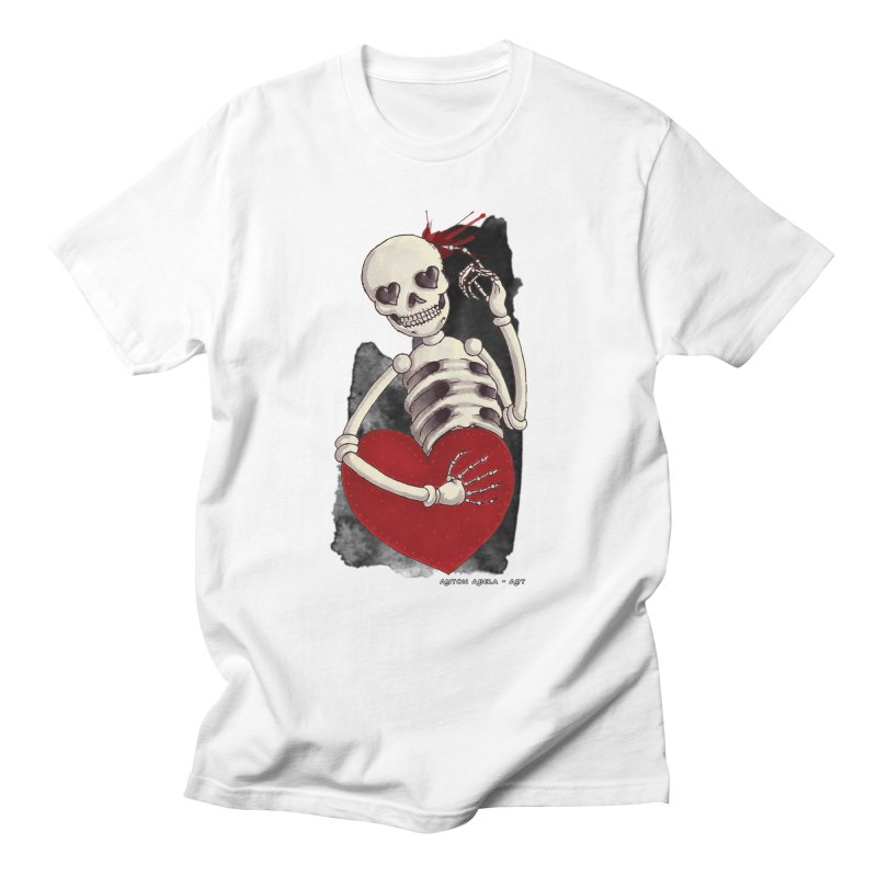 Grimly in Love Men's T-shirt by AntonAbela-Art's Artist Shop