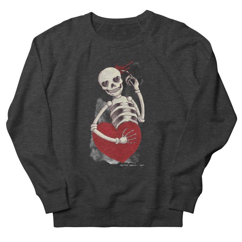 Grimly in Love Women's Sweatshirt by AntonAbela-Art's Artist Shop