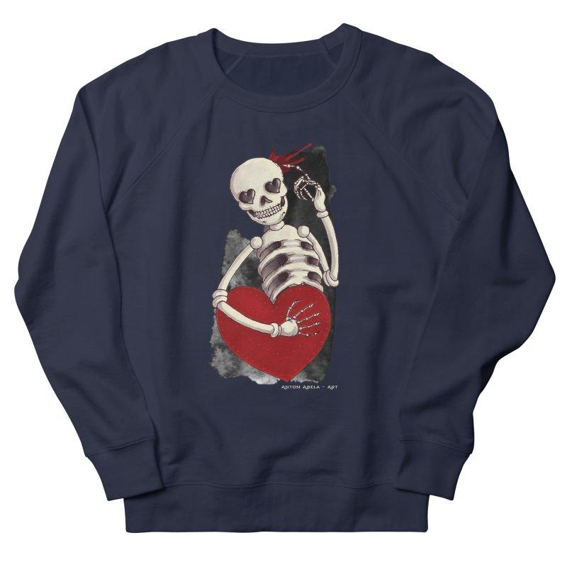 Grimly in Love Men's Sweatshirt by AntonAbela-Art's Artist Shop