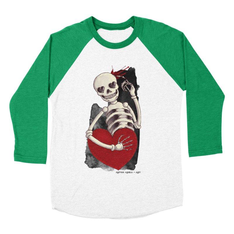 Grimly in Love Women's Baseball Triblend T-Shirt by AntonAbela-Art's Artist Shop
