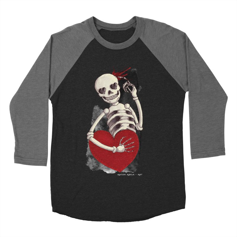 Grimly in Love Women's Baseball Triblend Longsleeve T-Shirt by AntonAbela-Art's Artist Shop