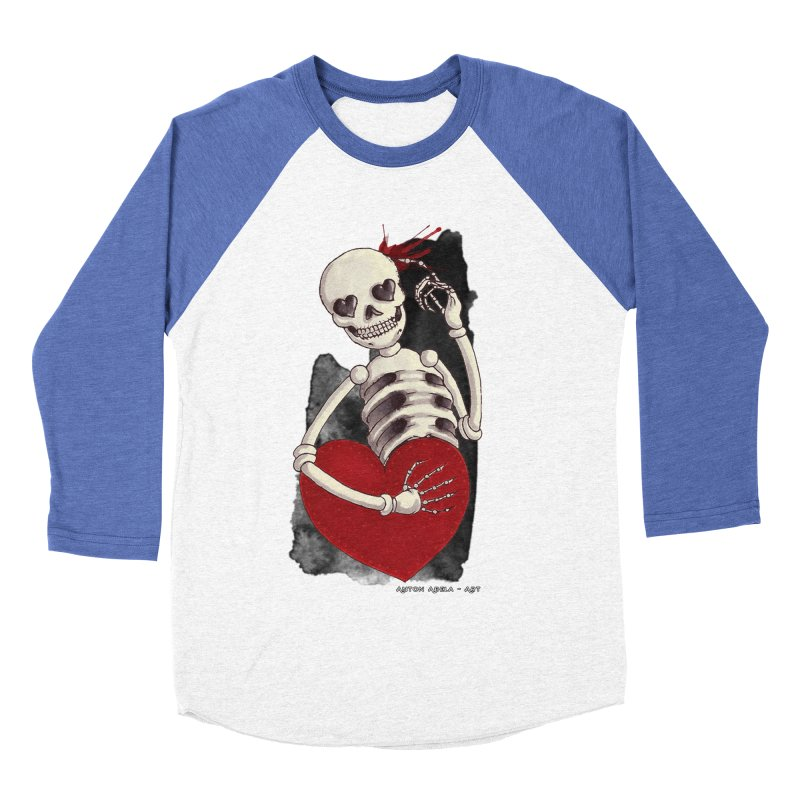 Grimly in Love Men's Baseball Triblend T-Shirt by AntonAbela-Art's Artist Shop