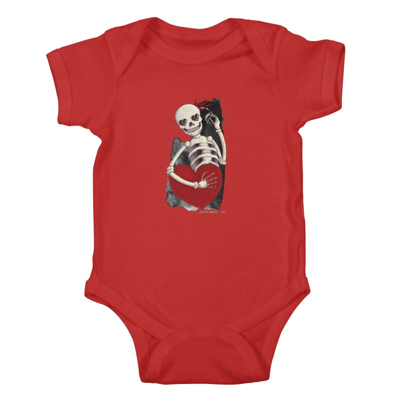 Grimly in Love Kids Baby Bodysuit by AntonAbela-Art's Artist Shop