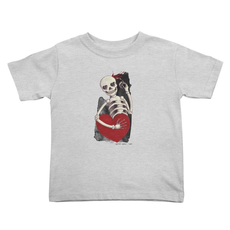 Grimly in Love Kids Toddler T-Shirt by AntonAbela-Art's Artist Shop