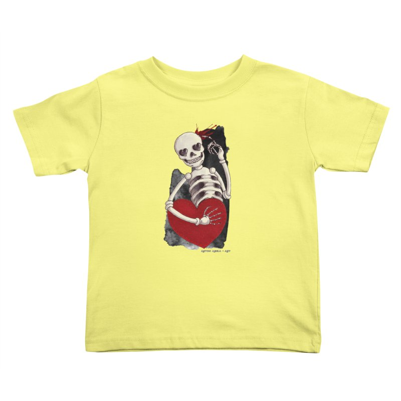Grimly in Love Kids Toddler T-Shirt by AntonAbela-Art's Artist Shop