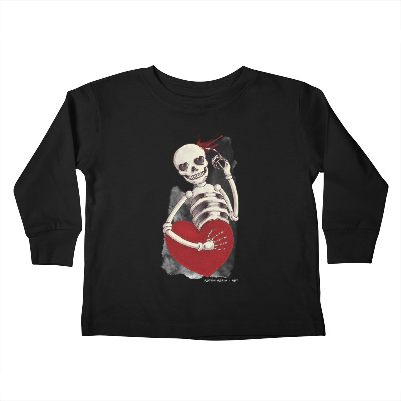 Grimly in Love Kids Toddler Longsleeve T-Shirt by AntonAbela-Art's Artist Shop