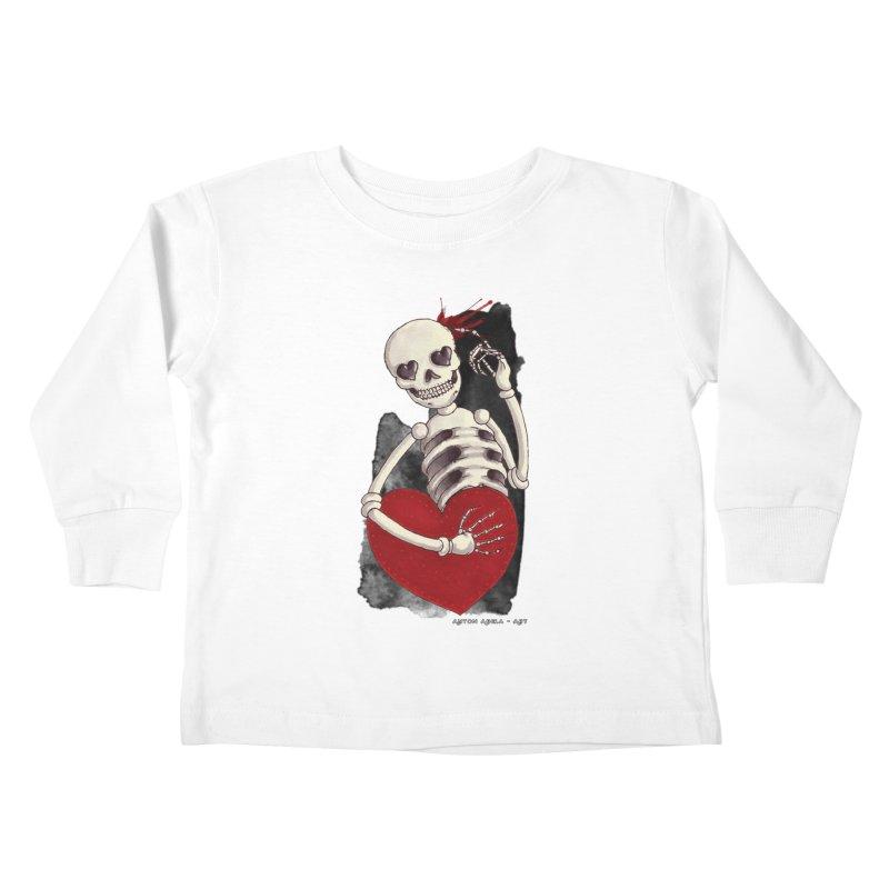 Grimly in Love Kids Toddler Longsleeve T-Shirt by AntonAbela-Art's Artist Shop
