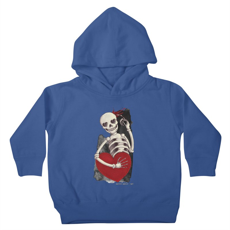 Grimly in Love Kids Toddler Pullover Hoody by AntonAbela-Art's Artist Shop
