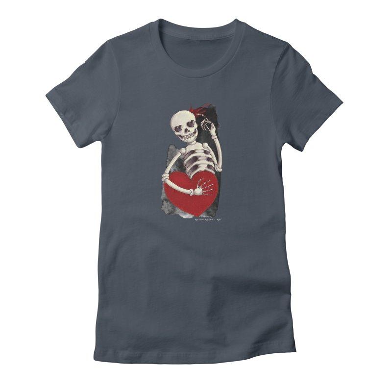 Grimly in Love Women's T-Shirt by AntonAbela-Art's Artist Shop