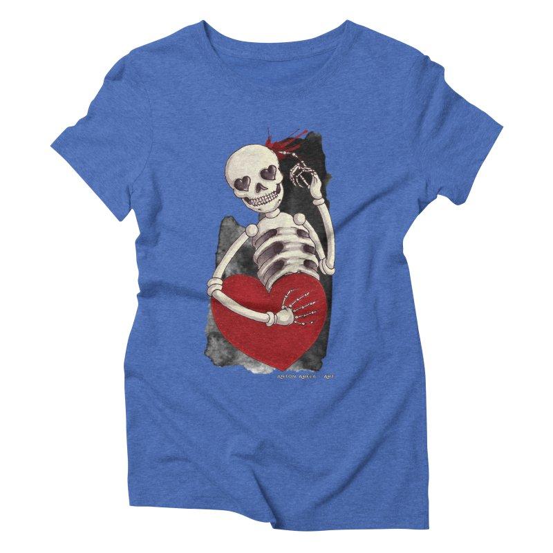 Grimly in Love Women's Triblend T-shirt by AntonAbela-Art's Artist Shop