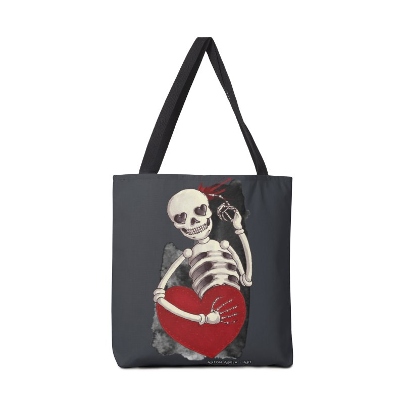 Grimly in Love Accessories Bag by AntonAbela-Art's Artist Shop