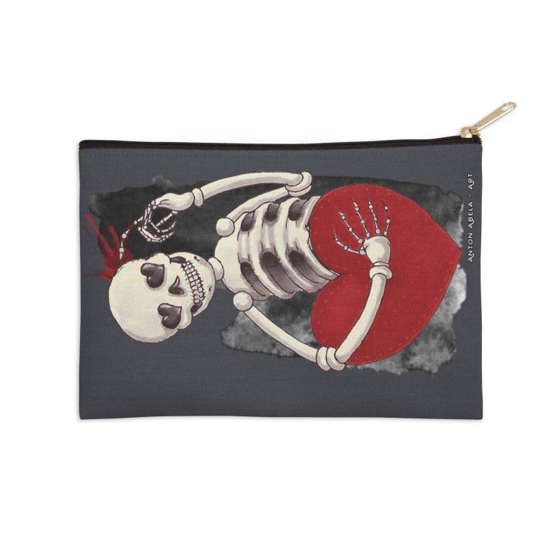 Grimly in Love Accessories Zip Pouch by AntonAbela-Art's Artist Shop