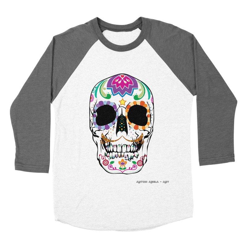 Calavera Women's Baseball Triblend Longsleeve T-Shirt by AntonAbela-Art's Artist Shop