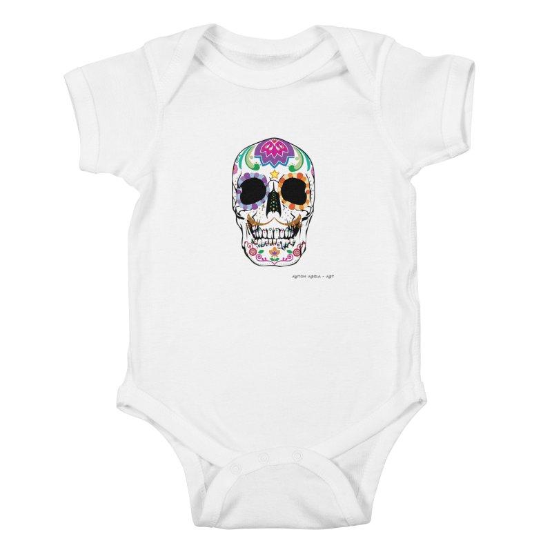 Calavera Kids Baby Bodysuit by AntonAbela-Art's Artist Shop