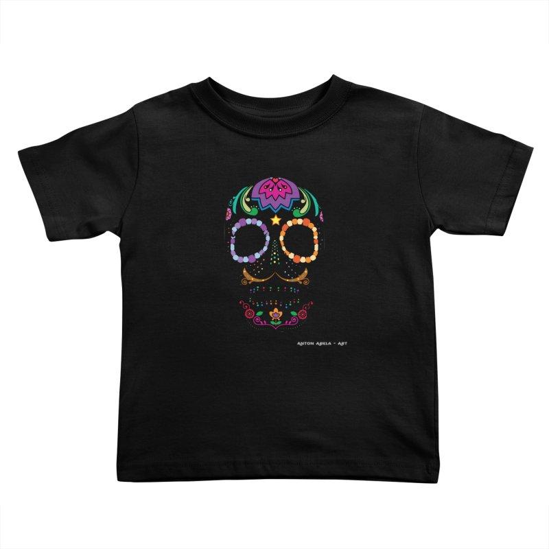 Calavera Kids Toddler T-Shirt by AntonAbela-Art's Artist Shop