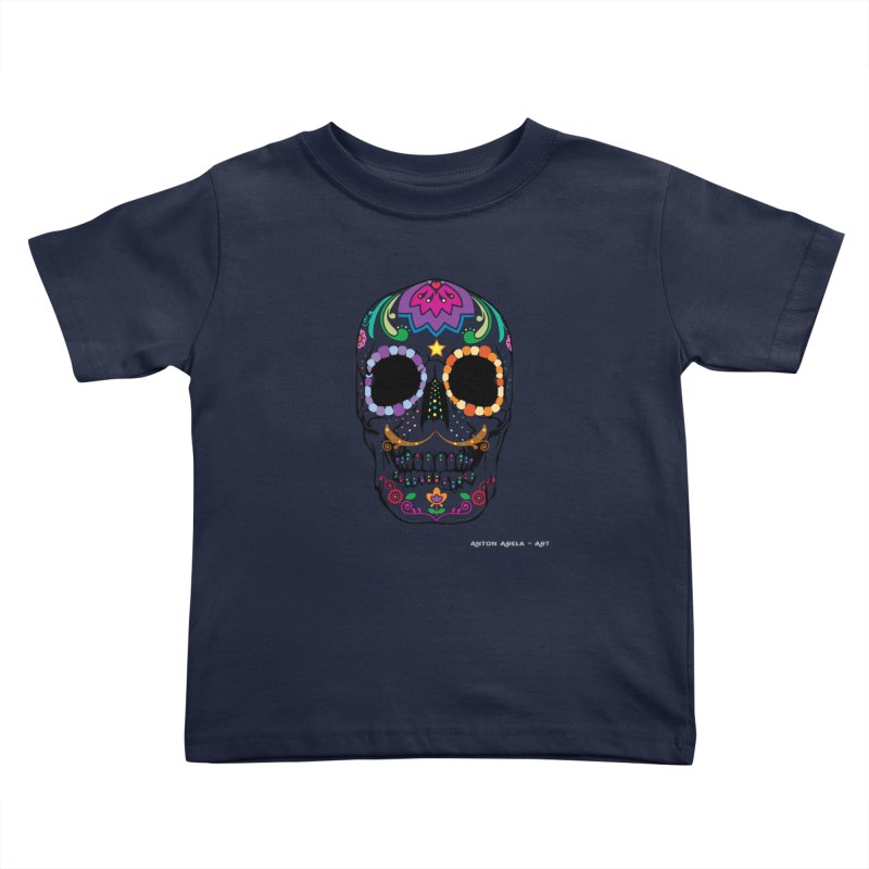 Calavera Kids Toddler T-Shirt by AntonAbela-Art's Artist Shop