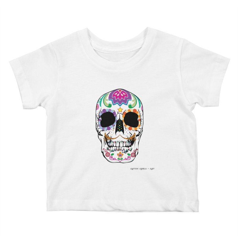 Calavera Kids Baby T-Shirt by AntonAbela-Art's Artist Shop