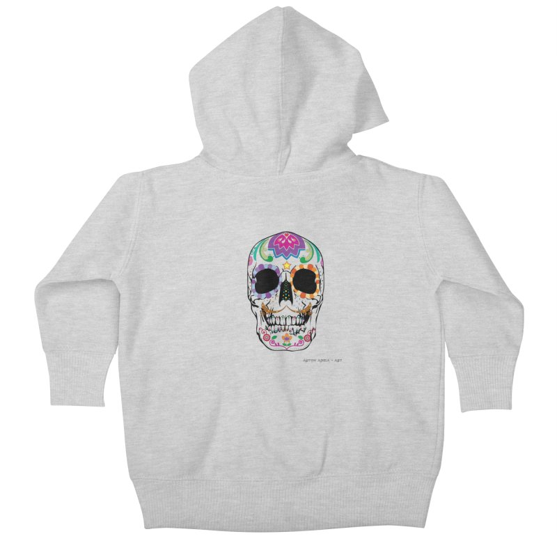 Calavera Kids Baby Zip-Up Hoody by AntonAbela-Art's Artist Shop