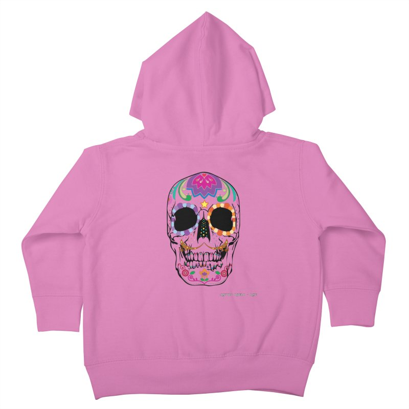 Calavera Kids Toddler Zip-Up Hoody by AntonAbela-Art's Artist Shop