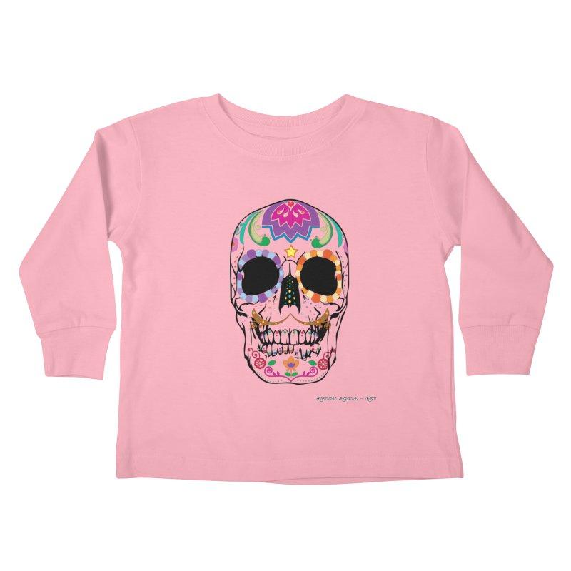 Calavera Kids Toddler Longsleeve T-Shirt by AntonAbela-Art's Artist Shop