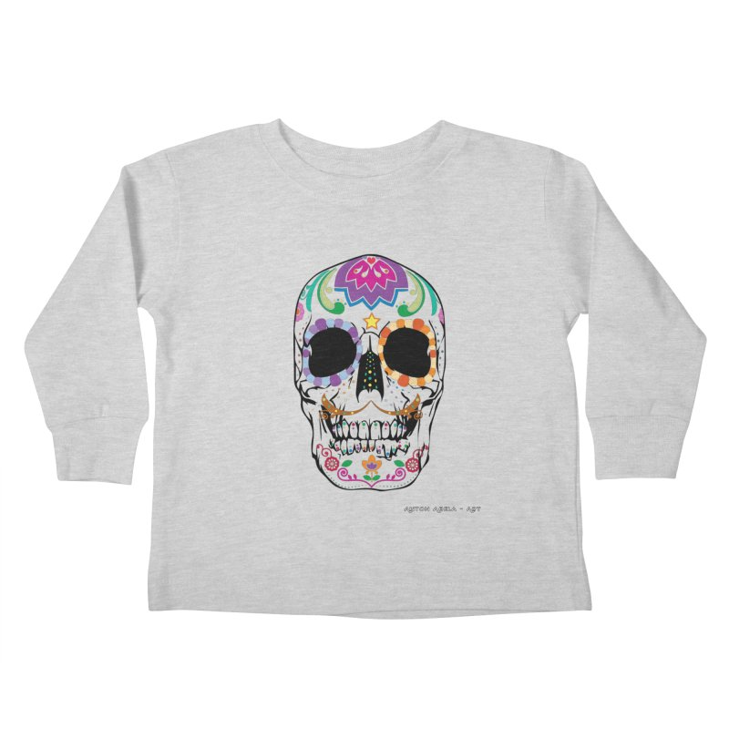 Calavera Kids Toddler Longsleeve T-Shirt by AntonAbela-Art's Artist Shop