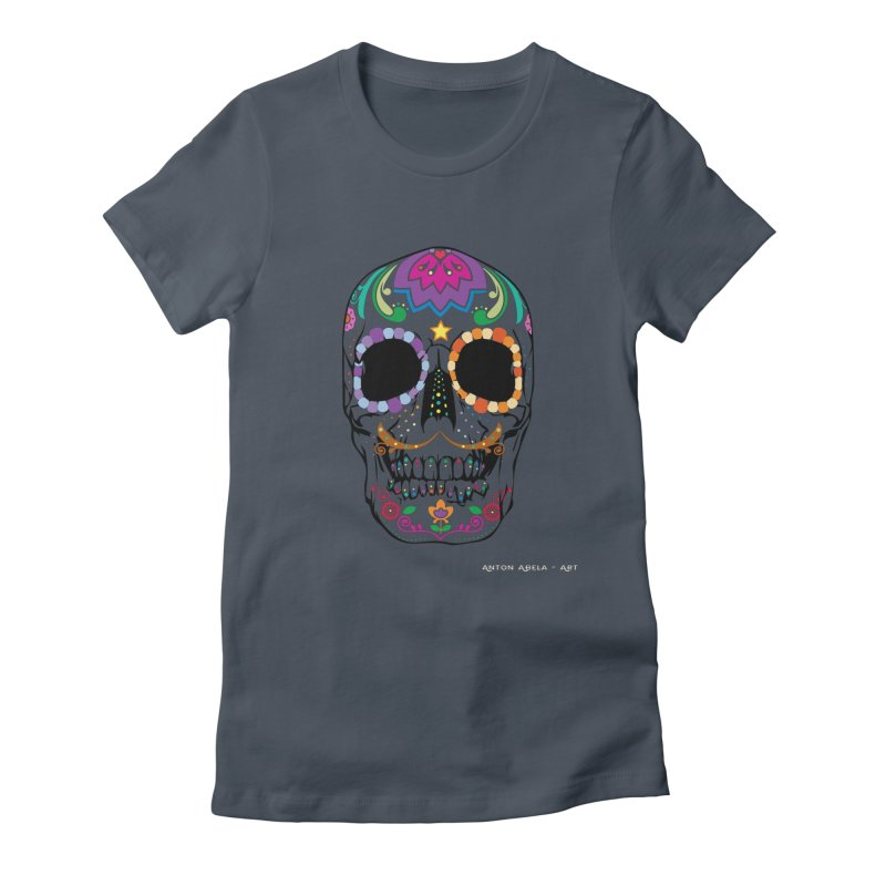 Calavera Women's T-Shirt by AntonAbela-Art's Artist Shop