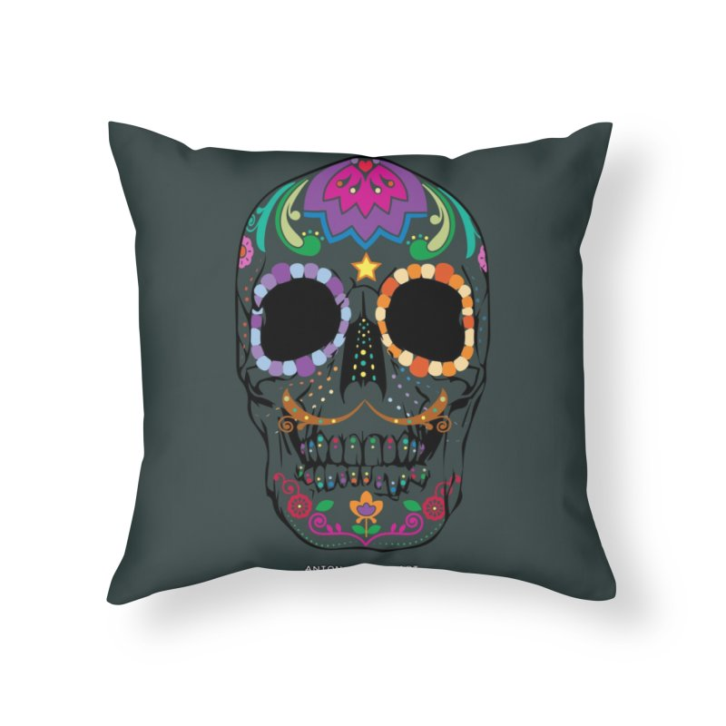 Calavera Home Throw Pillow by AntonAbela-Art's Artist Shop