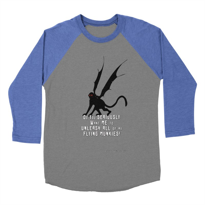 Soon Unleashing Flying Munkies! Women's Baseball Triblend Longsleeve T-Shirt by AntonAbela-Art's Artist Shop