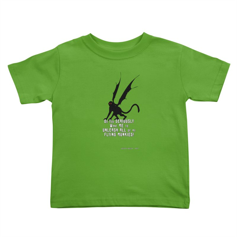 Soon Unleashing Flying Munkies! Kids Toddler T-Shirt by AntonAbela-Art's Artist Shop