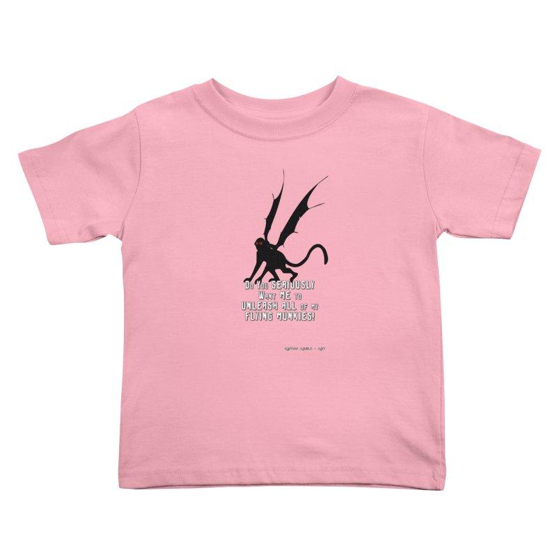 Soon Unleashing Flying Munkies! Kids Toddler T-Shirt by AntonAbela-Art's Artist Shop