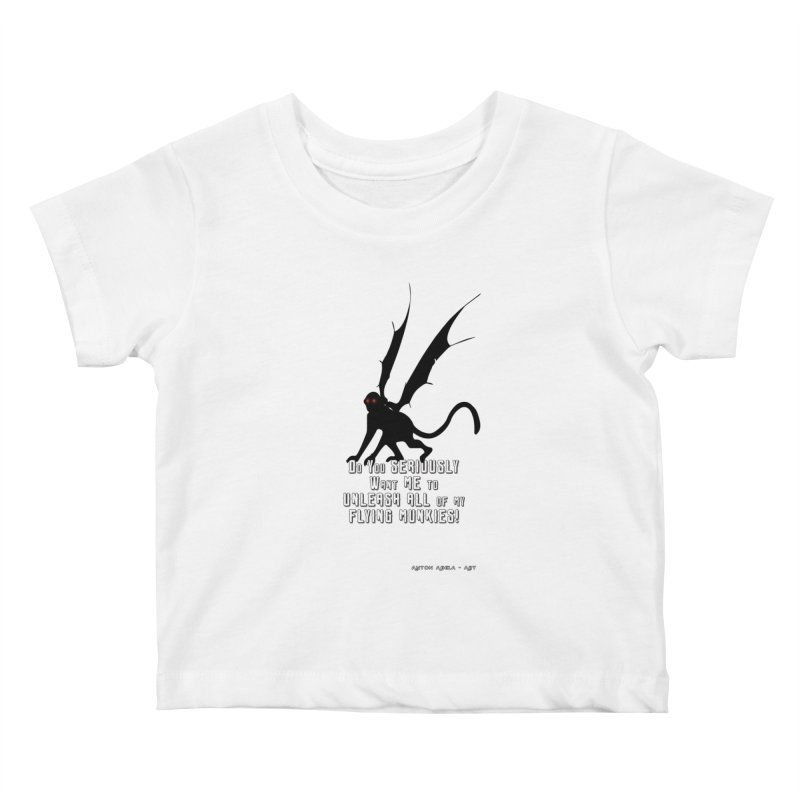 Soon Unleashing Flying Munkies! Kids Baby T-Shirt by AntonAbela-Art's Artist Shop