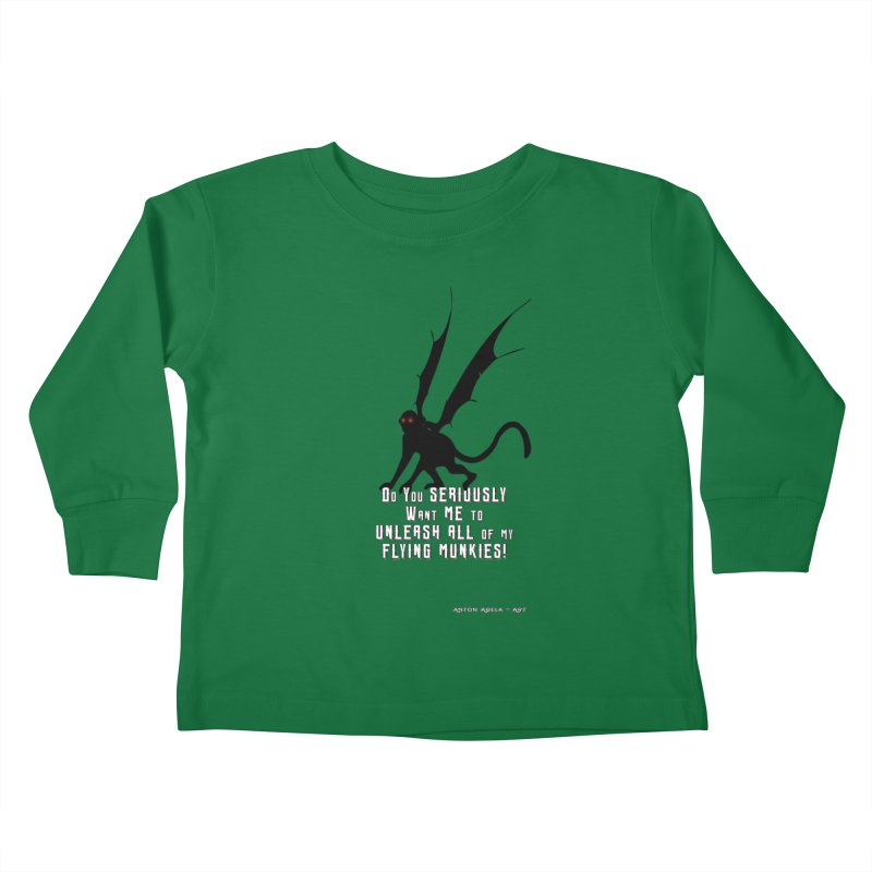 Soon Unleashing Flying Munkies! Kids Toddler Longsleeve T-Shirt by AntonAbela-Art's Artist Shop