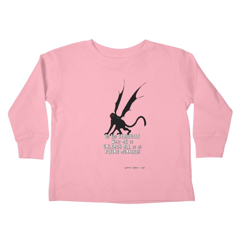 Soon Unleashing Flying Munkies! Kids Toddler Longsleeve T-Shirt by AntonAbela-Art's Artist Shop