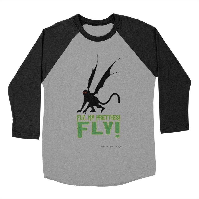 Fly My Pretties! Women's Baseball Triblend Longsleeve T-Shirt by AntonAbela-Art's Artist Shop