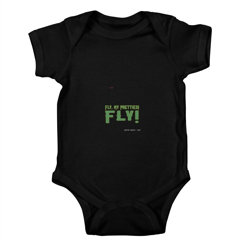 Fly My Pretties! Kids Baby Bodysuit by AntonAbela-Art's Artist Shop