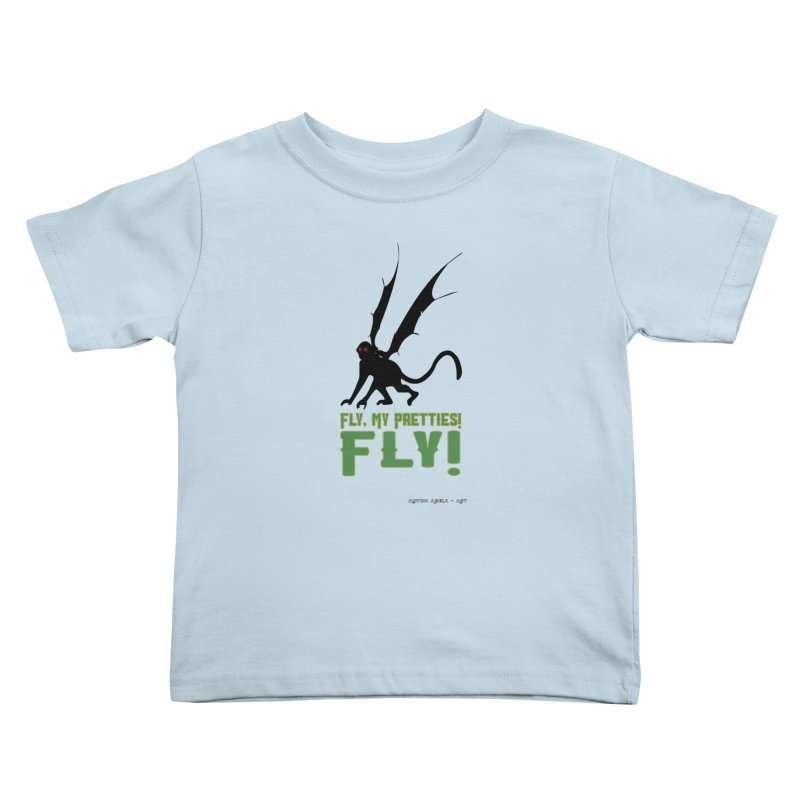 Fly My Pretties! Kids Toddler T-Shirt by AntonAbela-Art's Artist Shop