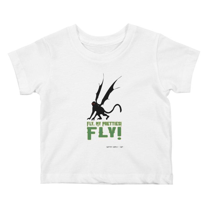 Fly My Pretties! Kids Baby T-Shirt by AntonAbela-Art's Artist Shop