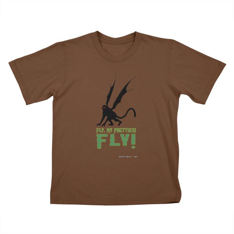 Fly My Pretties! Kids T-Shirt by AntonAbela-Art's Artist Shop