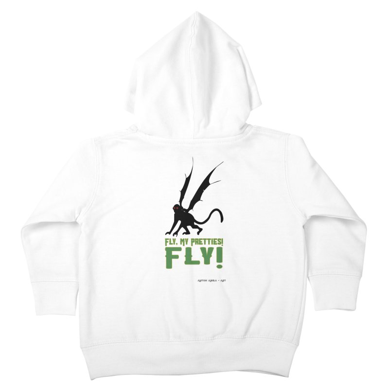 Fly My Pretties! Kids Toddler Zip-Up Hoody by AntonAbela-Art's Artist Shop