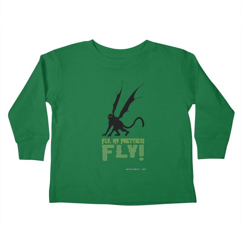 Fly My Pretties! Kids Toddler Longsleeve T-Shirt by AntonAbela-Art's Artist Shop