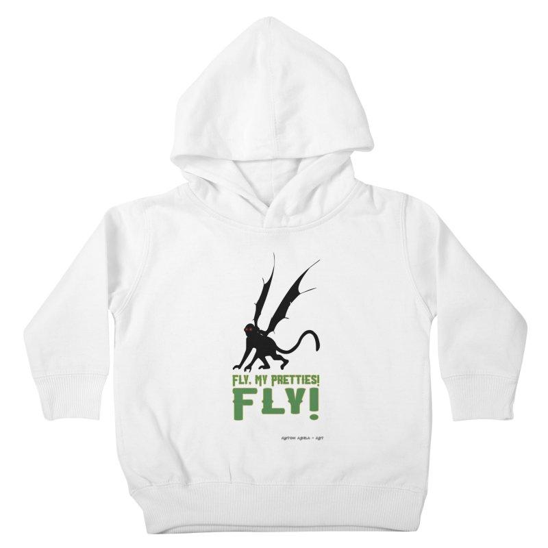 Fly My Pretties! Kids Toddler Pullover Hoody by AntonAbela-Art's Artist Shop