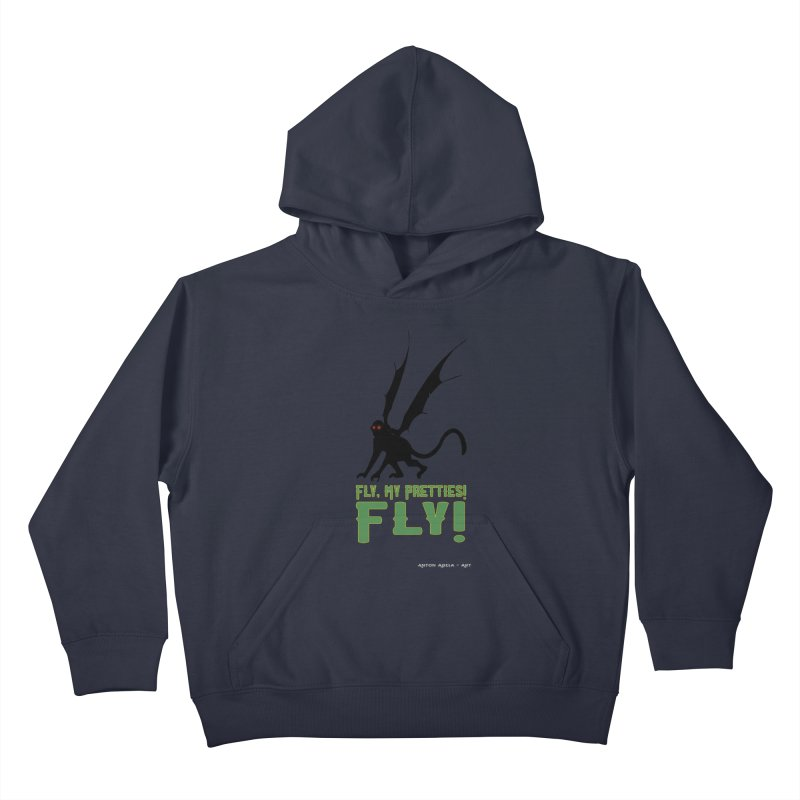 Fly My Pretties! Kids Pullover Hoody by AntonAbela-Art's Artist Shop
