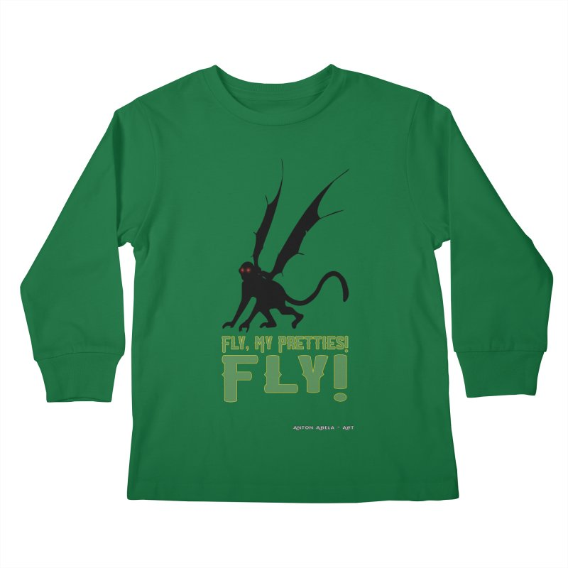 Fly My Pretties! Kids Longsleeve T-Shirt by AntonAbela-Art's Artist Shop