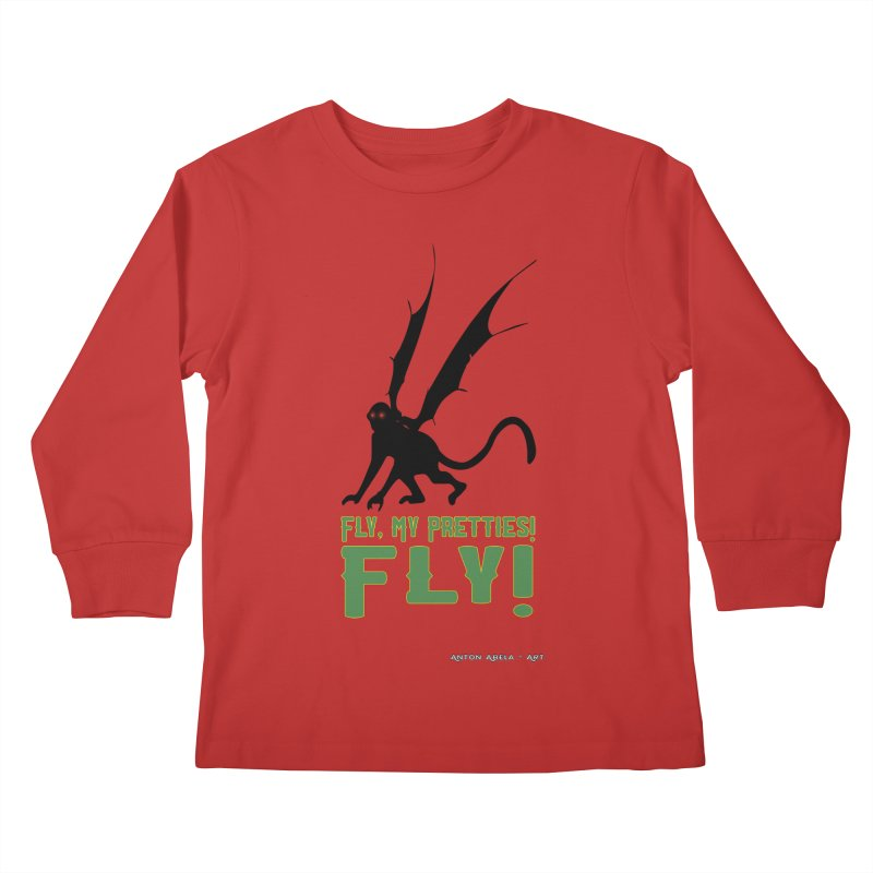 Fly My Pretties! Kids Longsleeve T-Shirt by AntonAbela-Art's Artist Shop